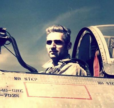 Augenstein in an F-84d Thunderjet